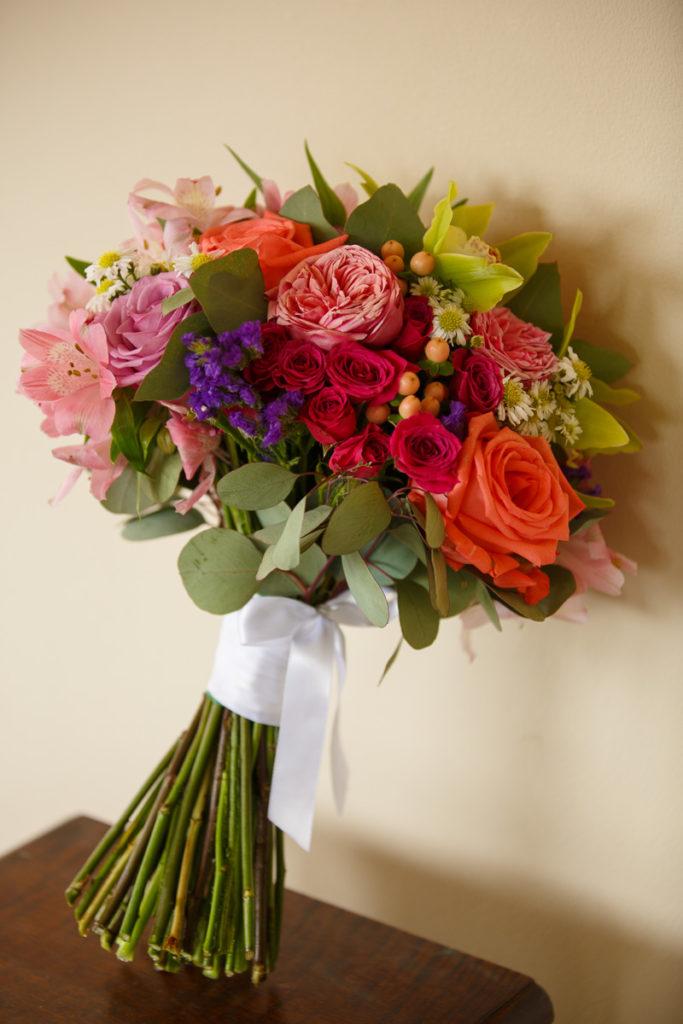 Multicolor handtied bridal bouquet