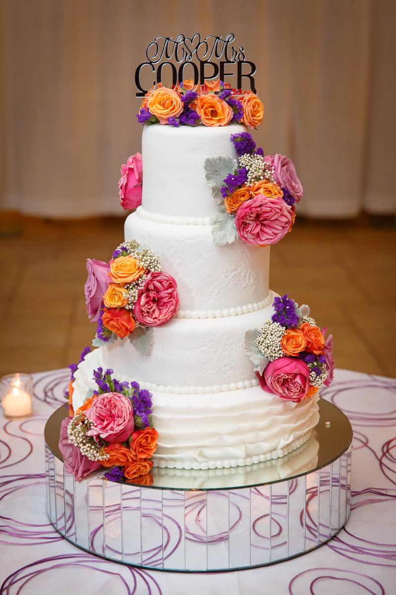 multicolored cake decor