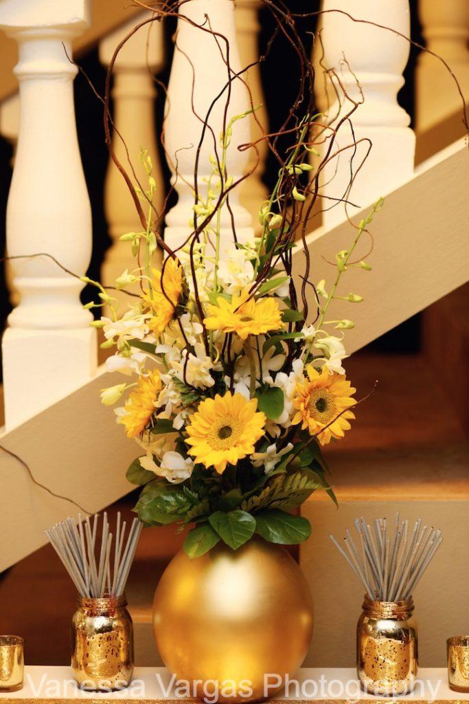 sunflower design for entrance table