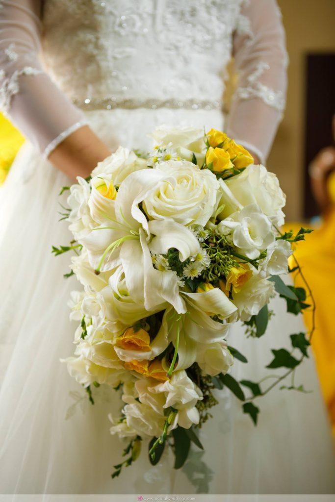 Elegant cascading bridal bouquet